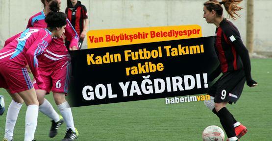 Van Büyükşehir Belediye Spor Kadın Futbol Takımı Rakibe Gol Yağdırdı